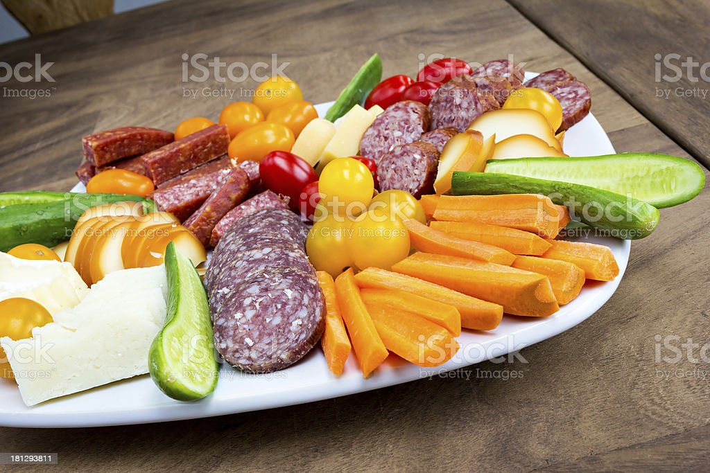 snack plate royalty-free stock photo