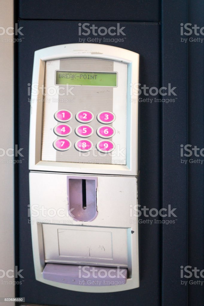 Snack Vending Machine Buttons stock photo