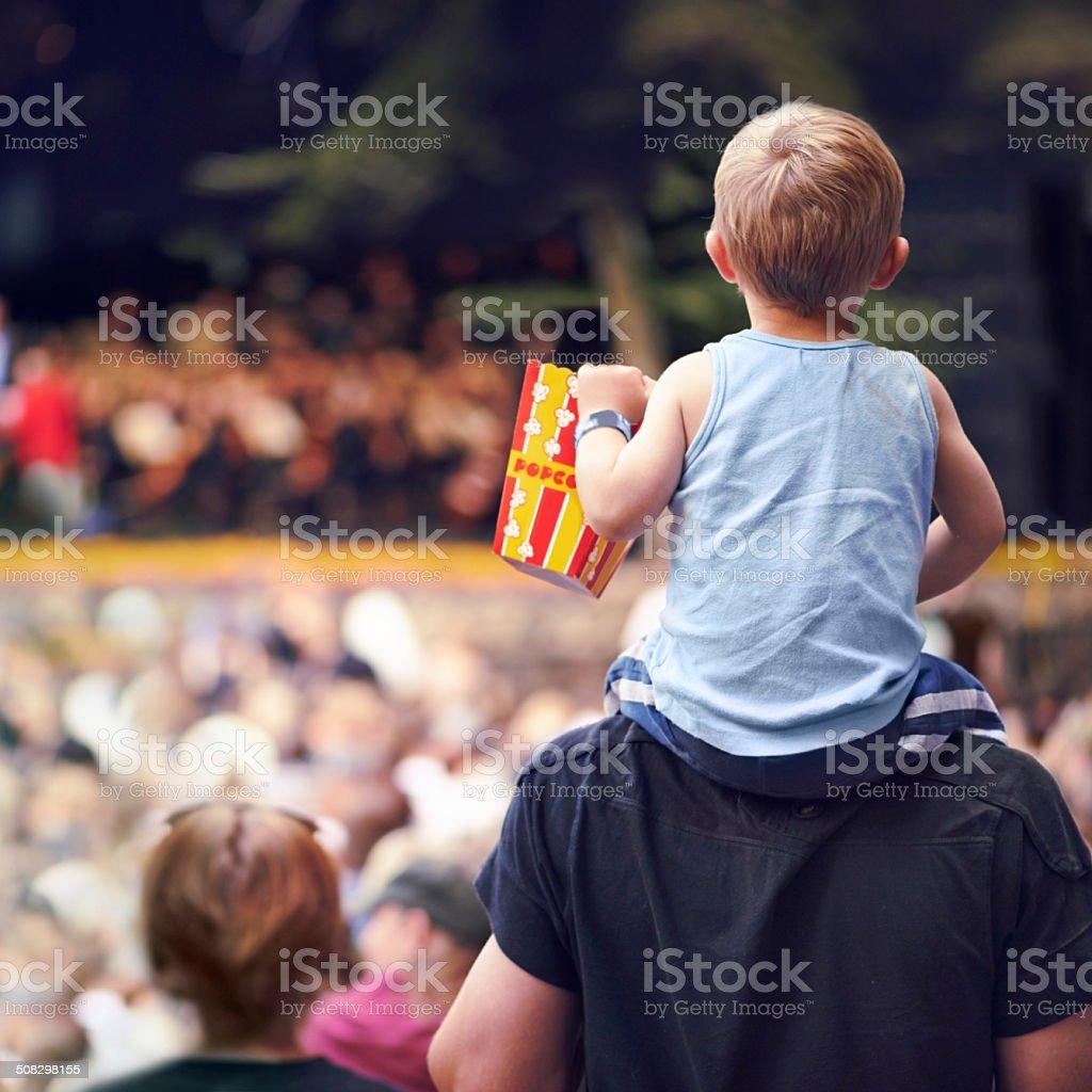 Snacks and entertainment stock photo