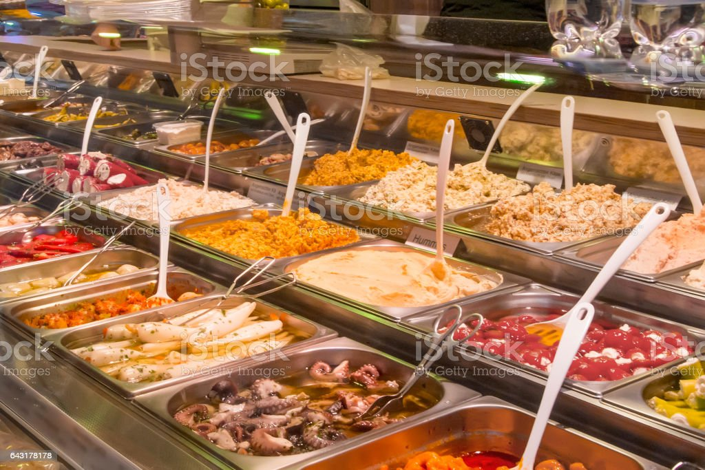 Snacks and side dishes stock photo