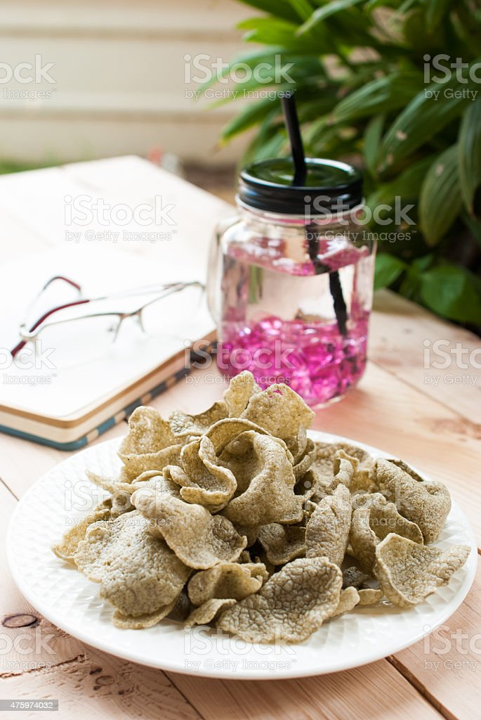 snacks and soft drink stock photo