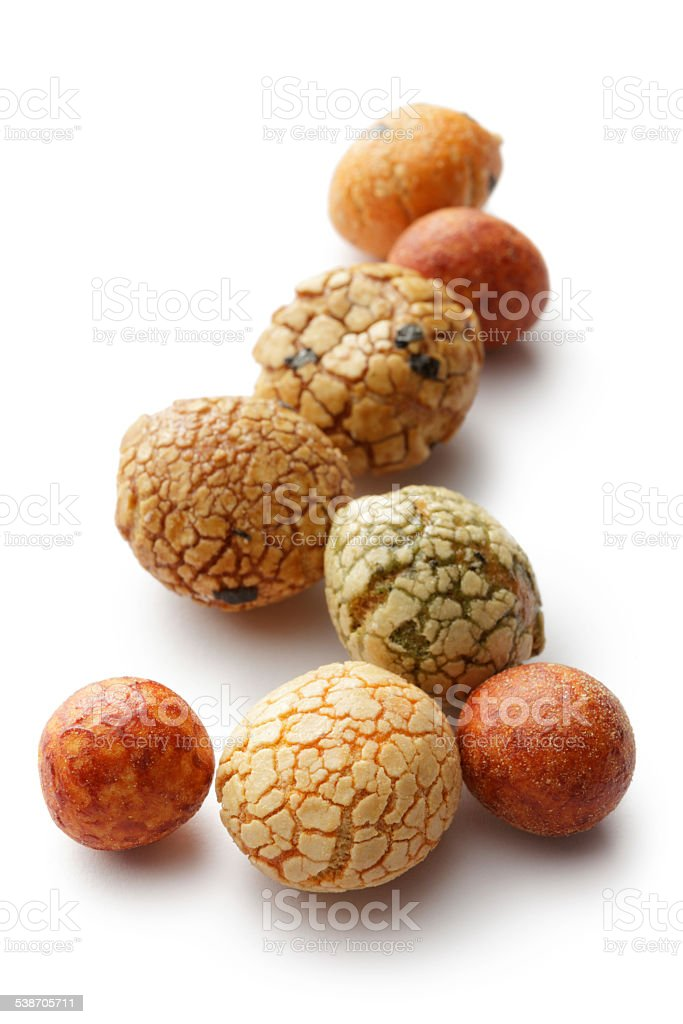 Snacks: Japanese Party Nuts stock photo