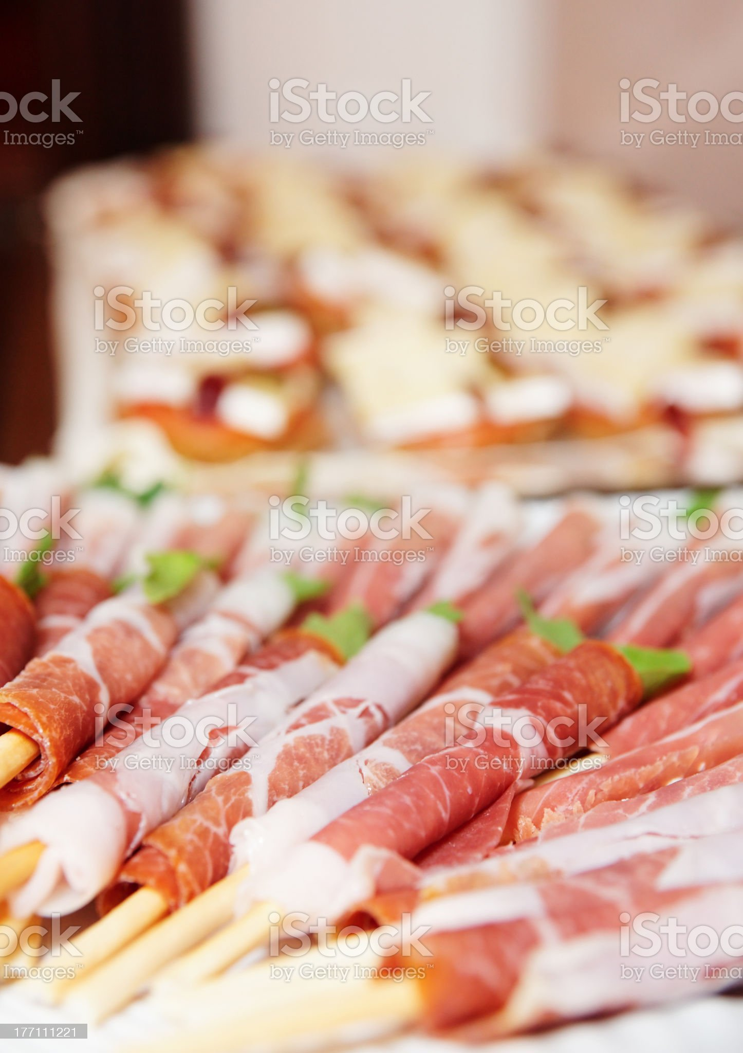 Snacks on banquet table royalty-free stock photo