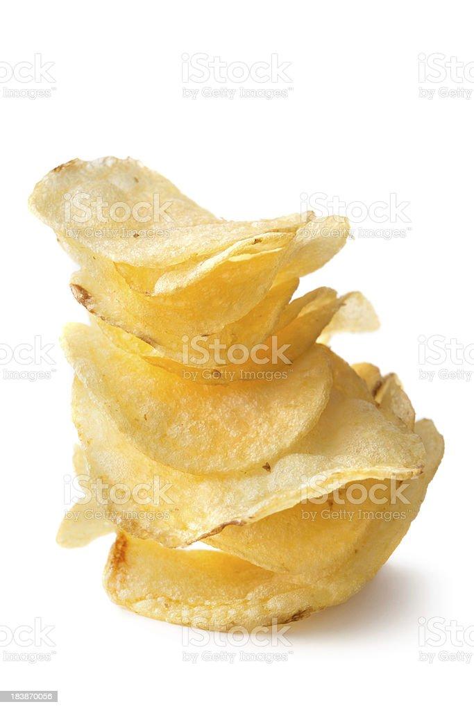 Snacks: Potato Chips royalty-free stock photo