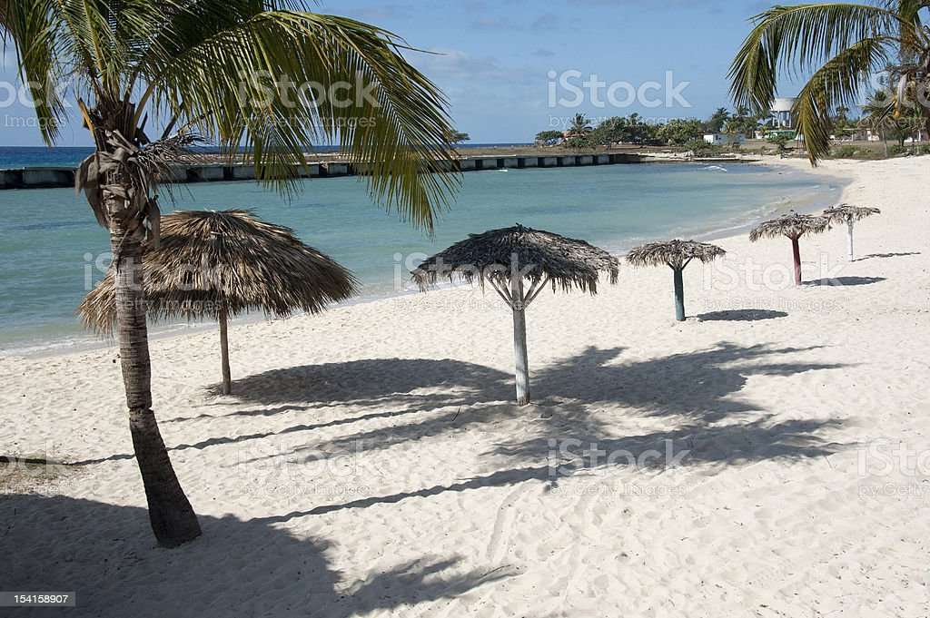 Snady Caribbean Beach stock photo
