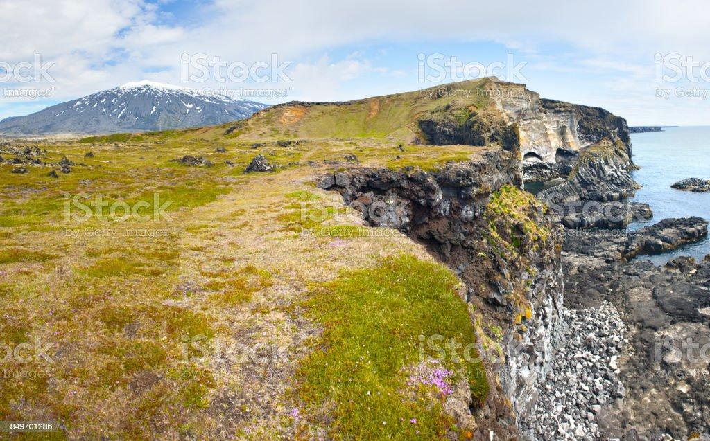 Snaefellsness peninsula stock photo