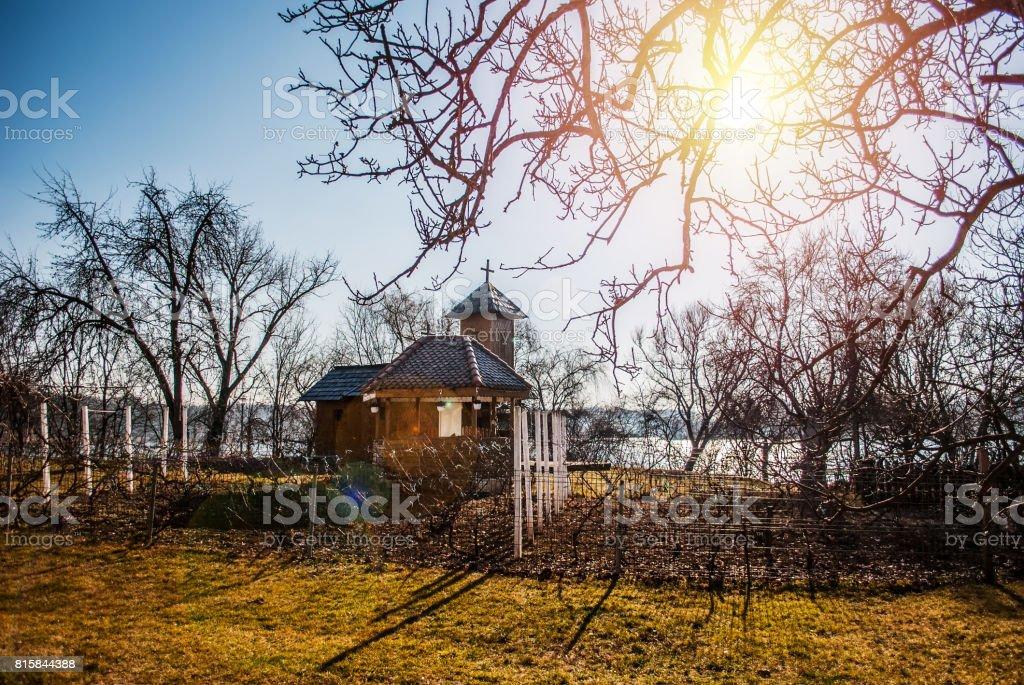 Snagov Monastery, Romania stock photo