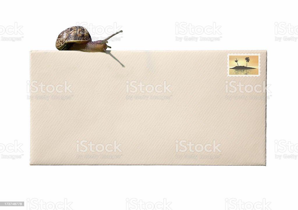 Snail mail royalty-free stock photo