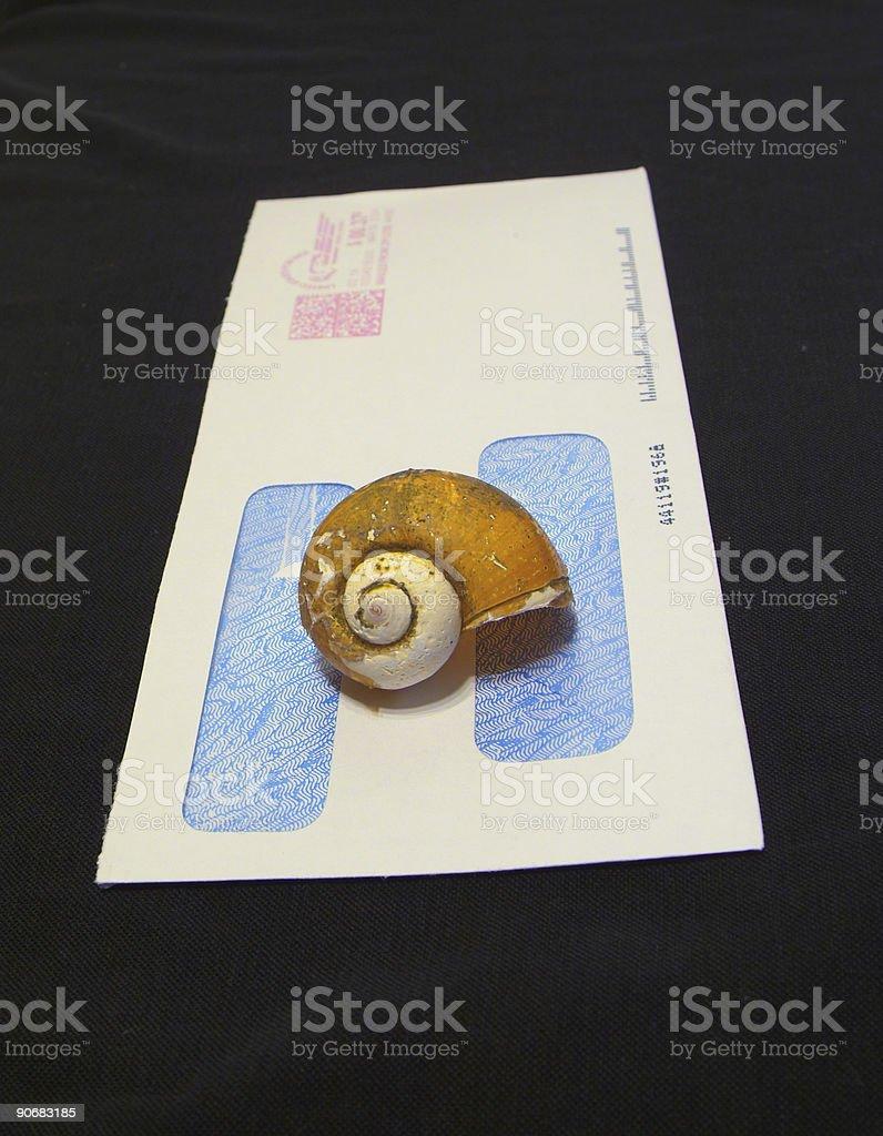 snail mail stock photo