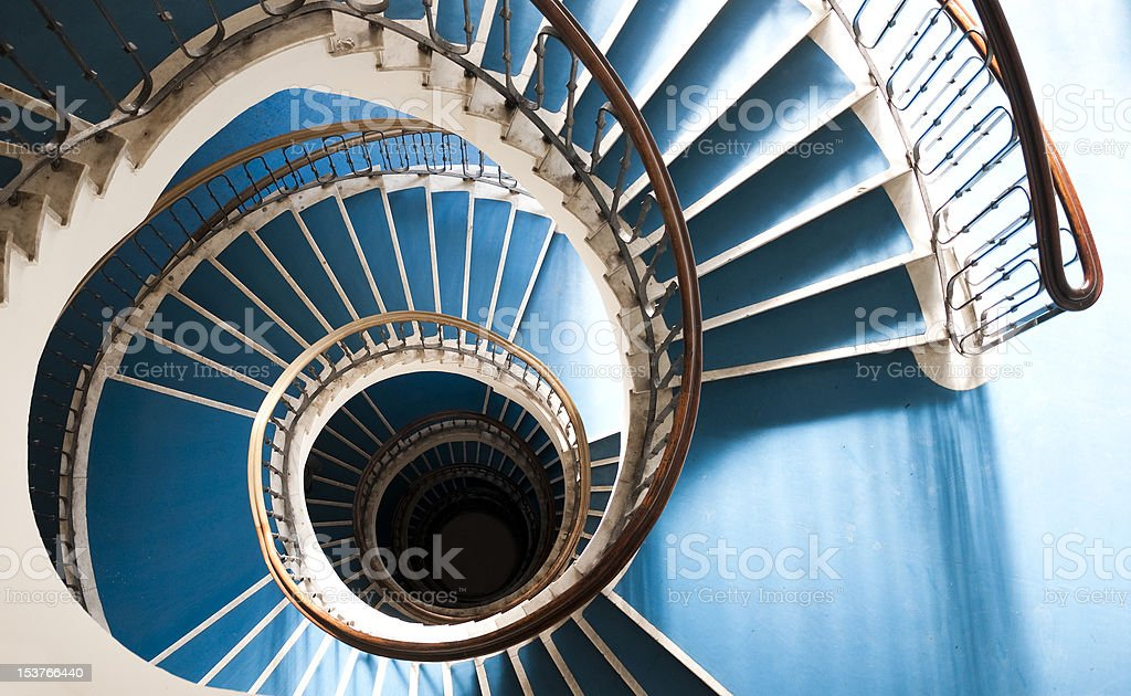 snail stair stock photo