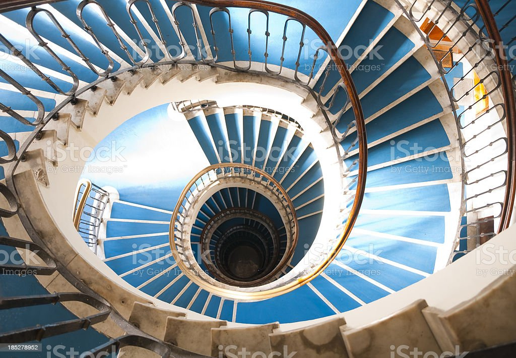 snail stair stock photo