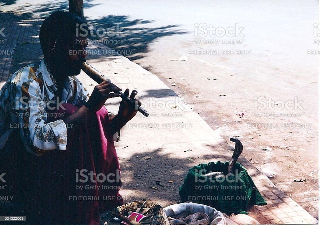 Snake Charmer in Mumbai stock photo