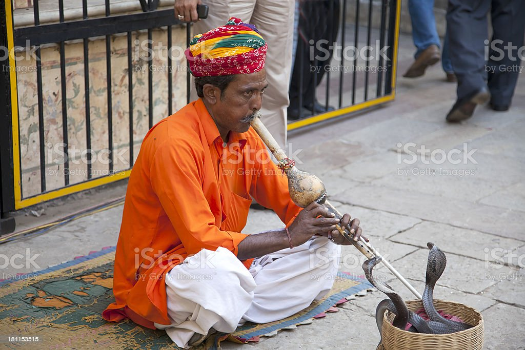 Snake Charmer royalty-free stock photo