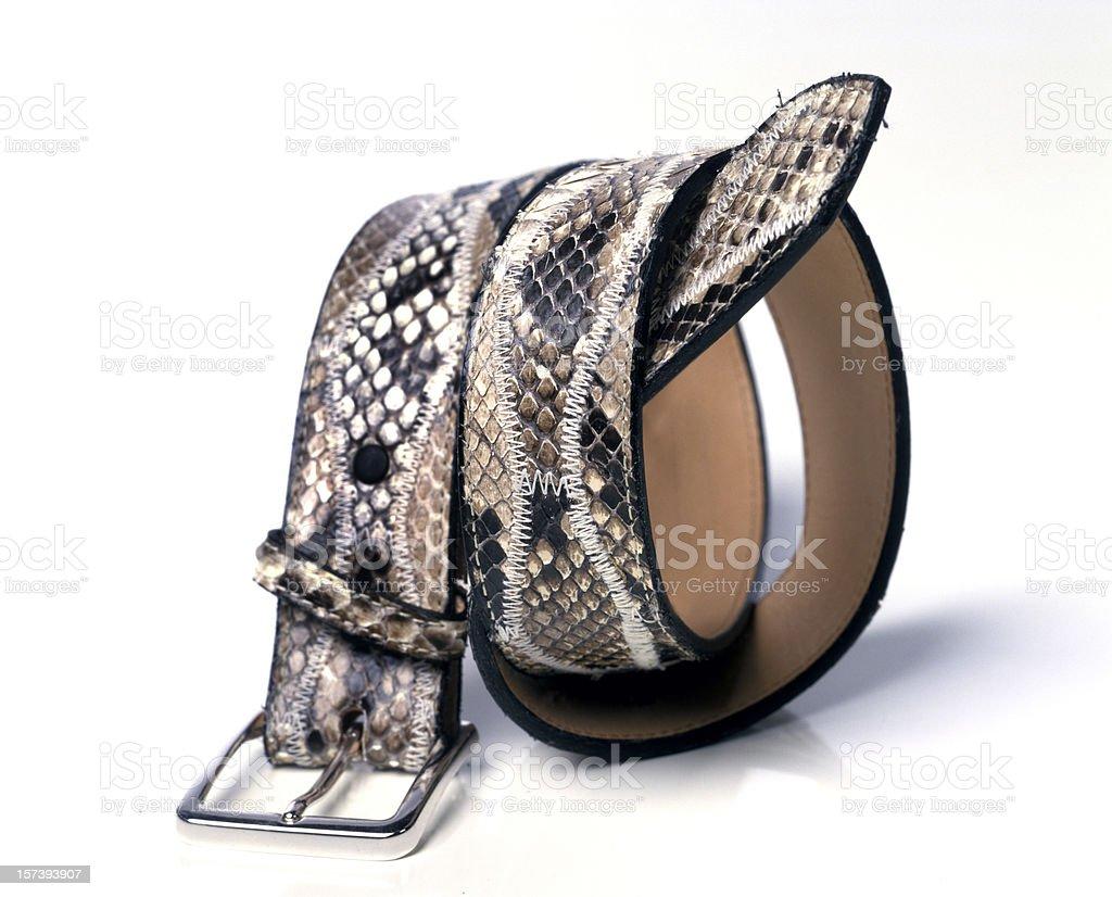 snake leather belt royalty-free stock photo