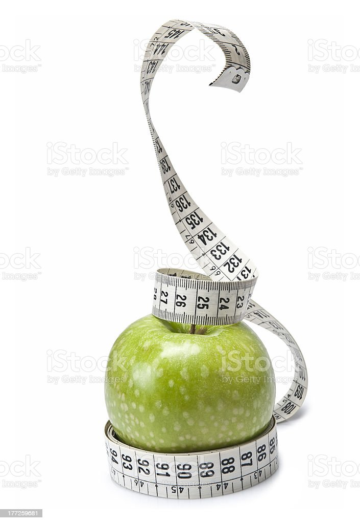 Snake on the apple. royalty-free stock photo