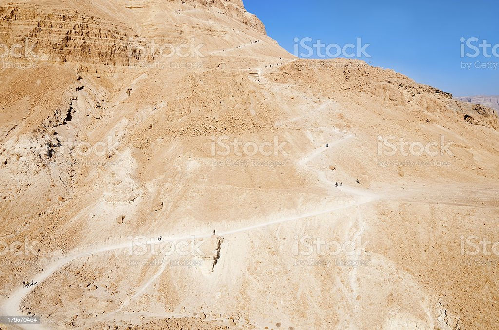 Snake Path on Masada stock photo