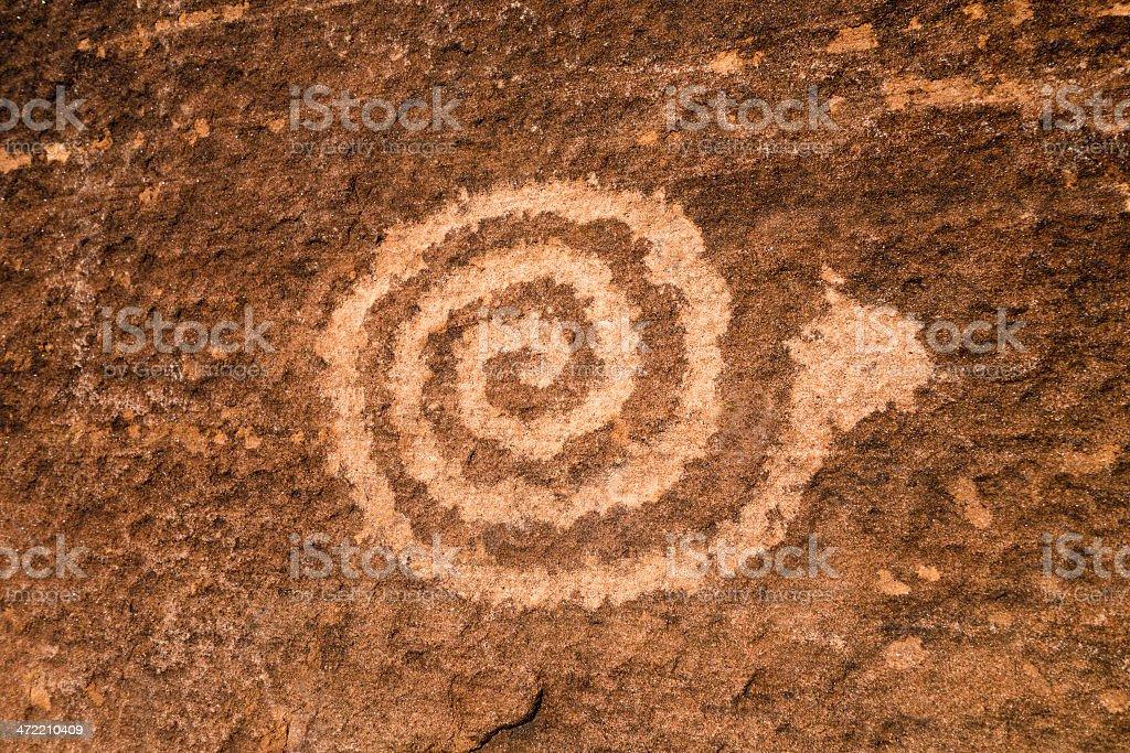 Snake Petroglyph stock photo