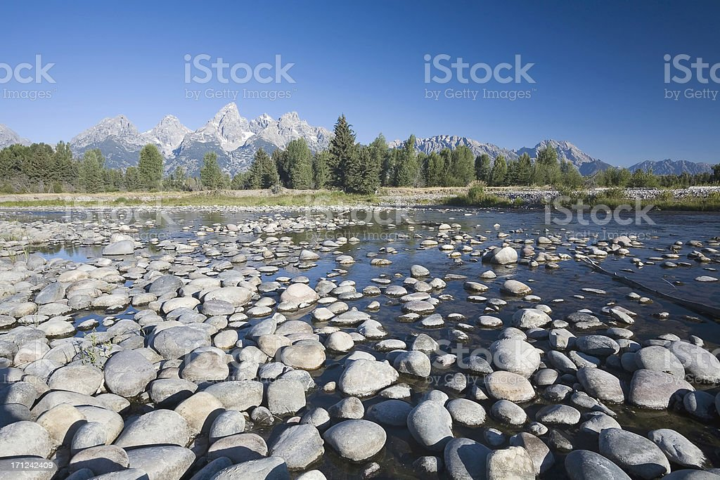 Snake River and Grand Teton royalty-free stock photo