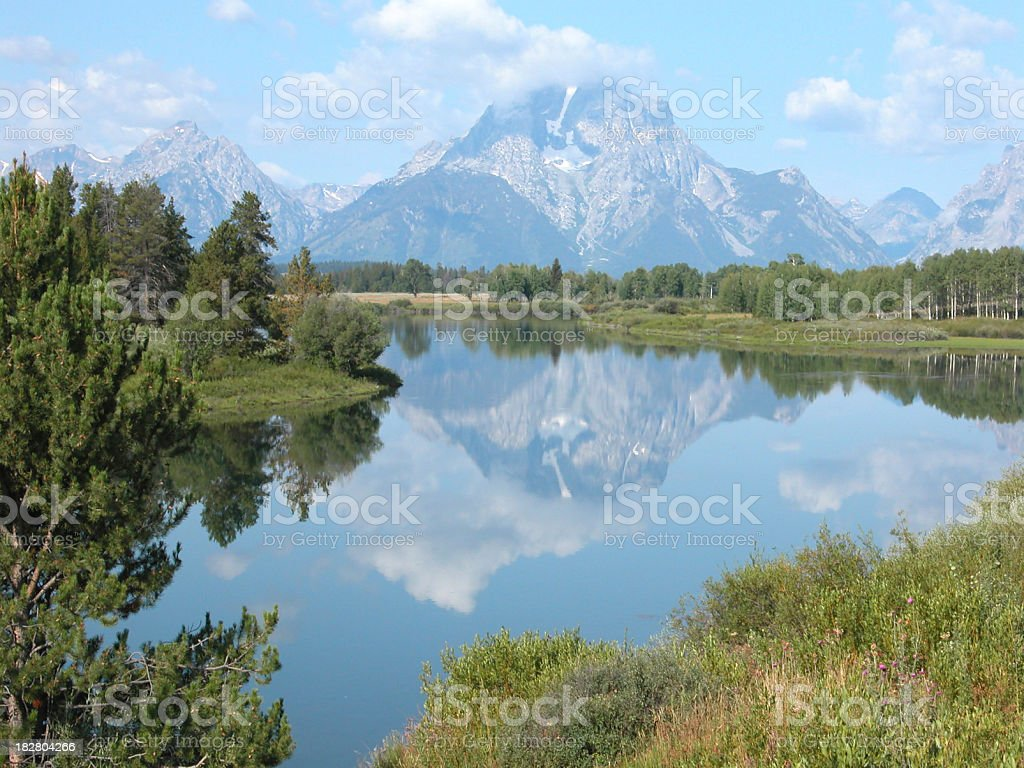 Snake River and the Tetons, Wyoming, USA royalty-free stock photo