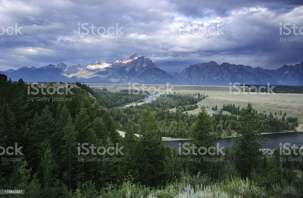 Snake River Bend royalty-free stock photo