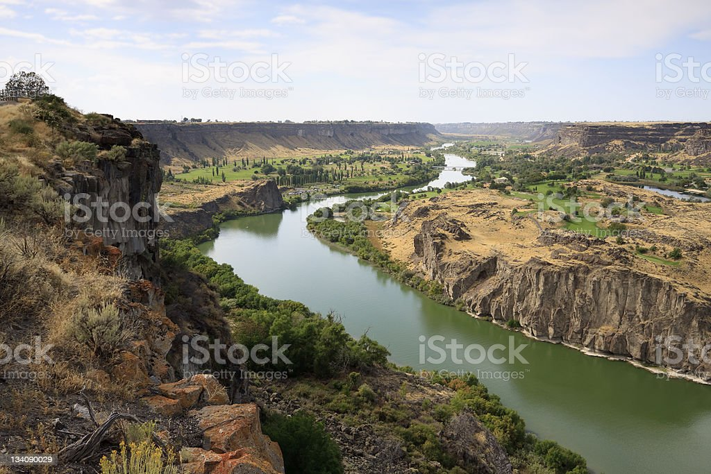 Snake River Gorge stock photo