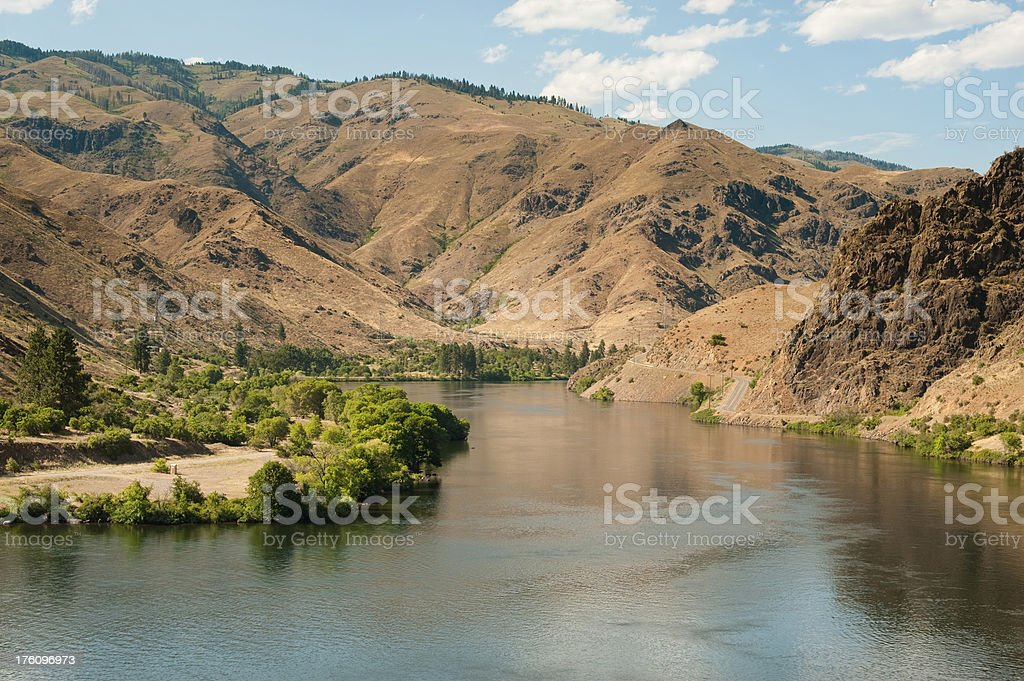Snake River in Hells Canyon royalty-free stock photo