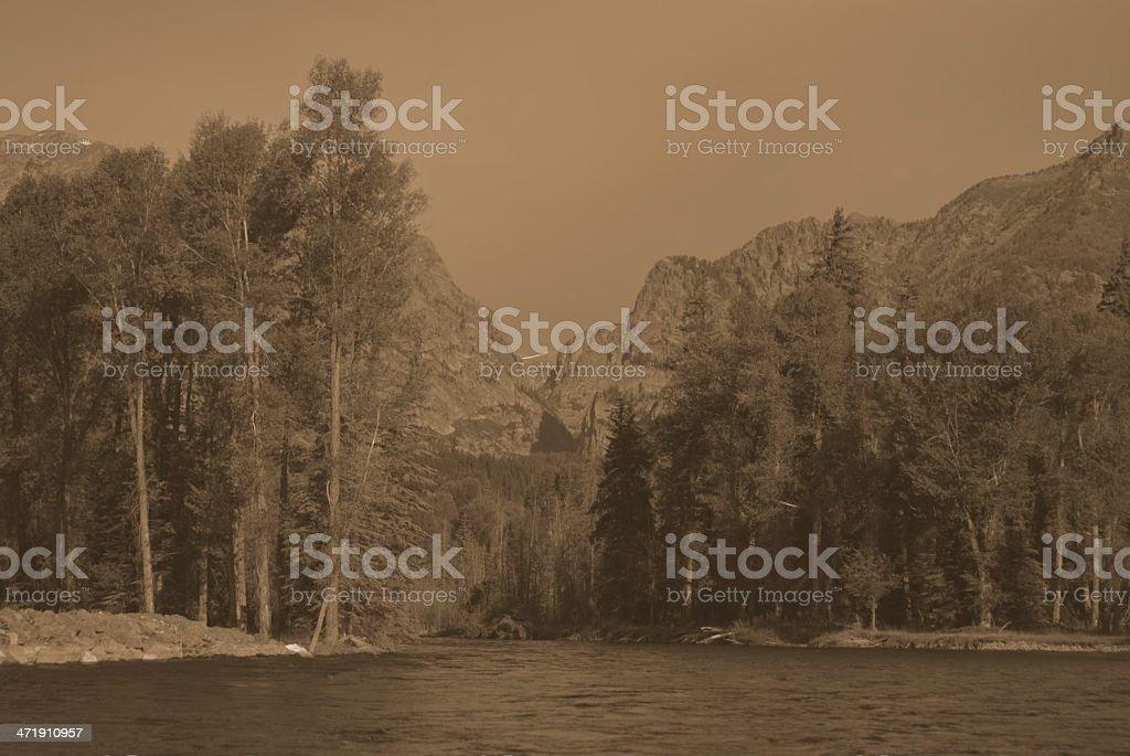 Snake River, Jackson Hole, WY royalty-free stock photo