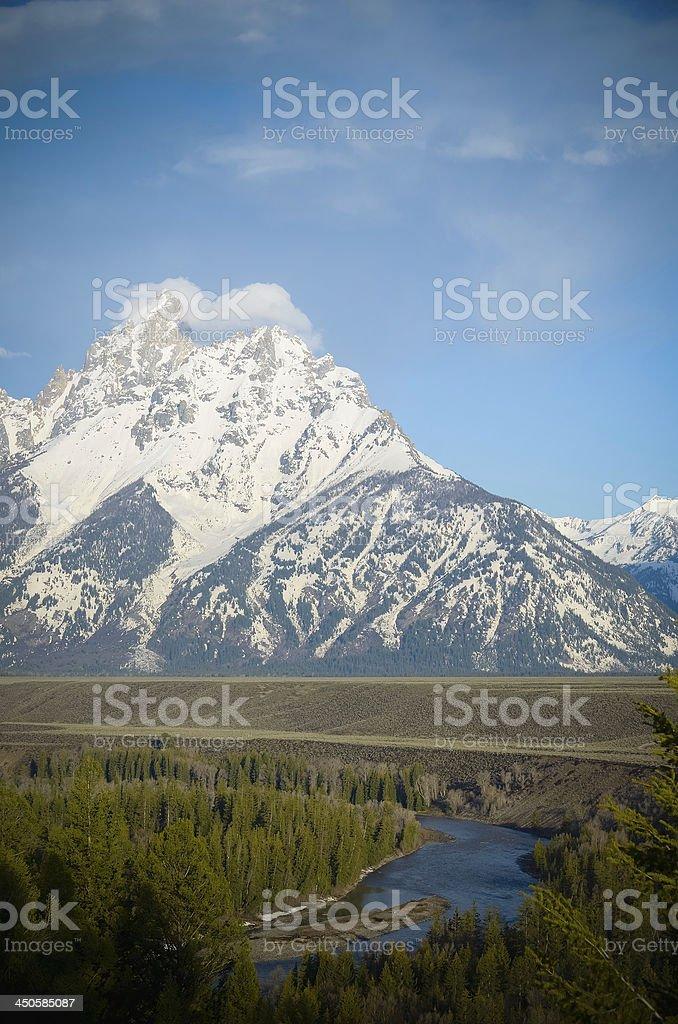 Snake River Overlook, Grand Teton National Park royalty-free stock photo