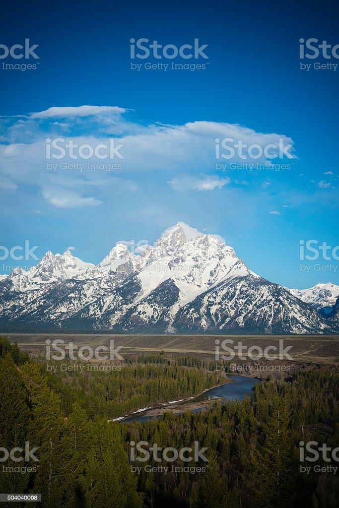 Snake River Overlook, Grand Teton National Park stock photo