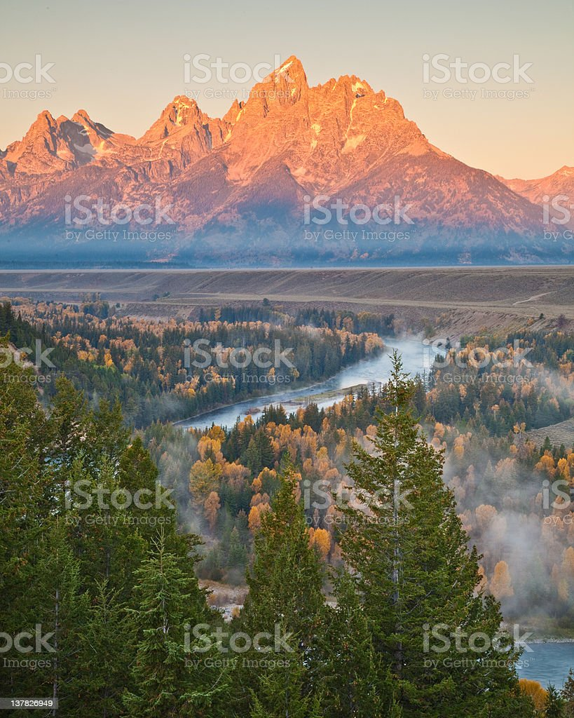 Snake River Overlook stock photo
