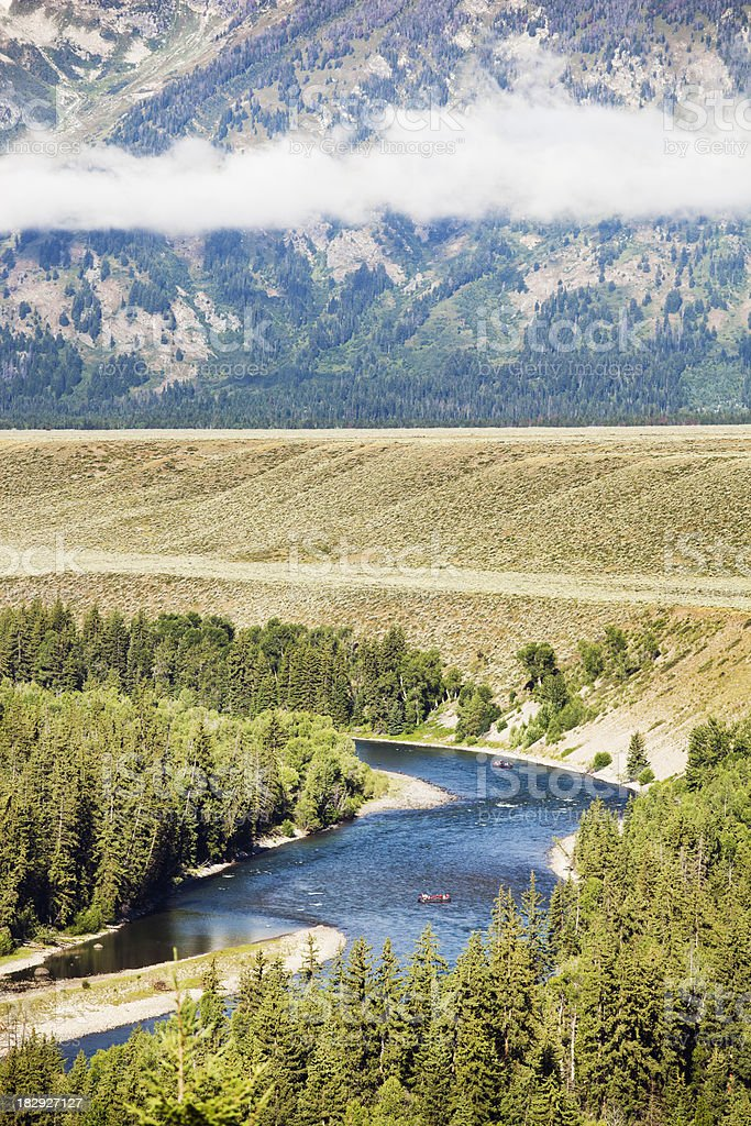 Snake River Rafting in The Grand Teton National Park royalty-free stock photo