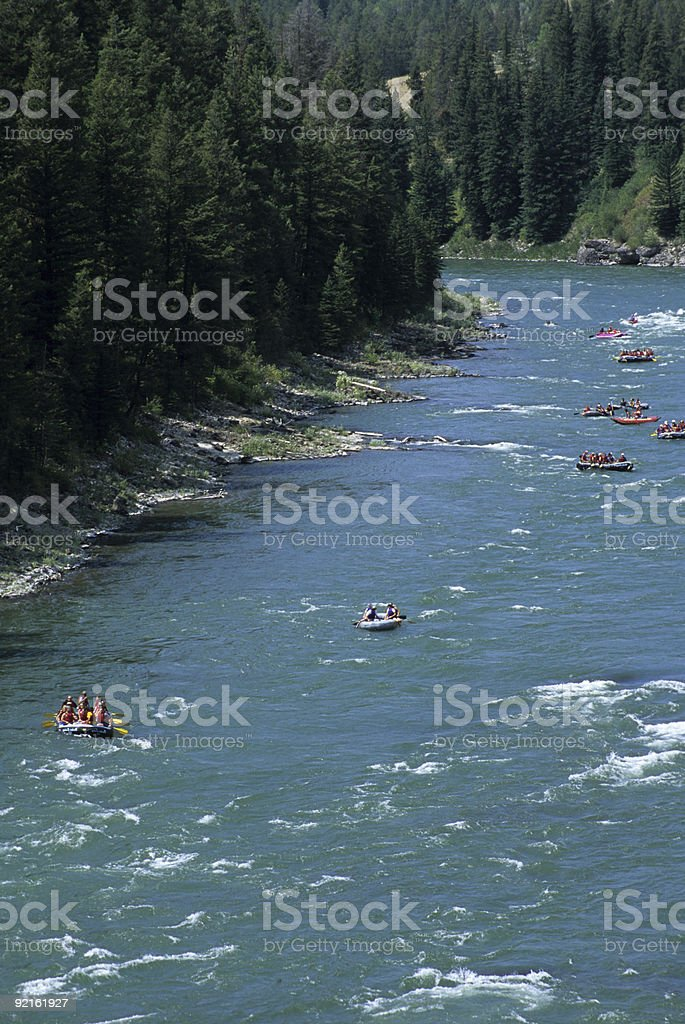 Snake River Rafting royalty-free stock photo