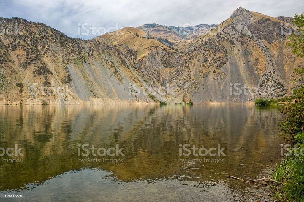 Snake River Reflection in Hell's Canyon royalty-free stock photo