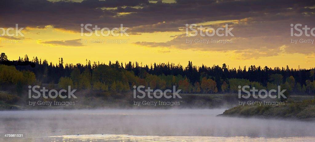 Snake River Sunrise stock photo