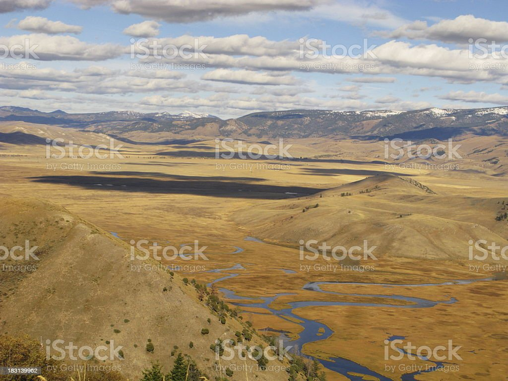 Snake River Tributary Basin Aerial royalty-free stock photo