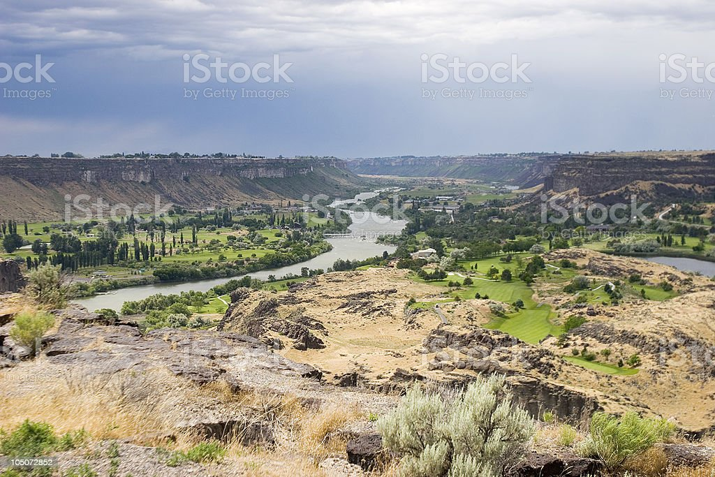 Snake River Valley Overlook royalty-free stock photo