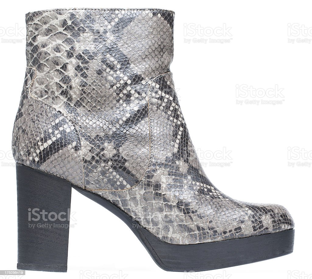 Snake skin boots royalty-free stock photo