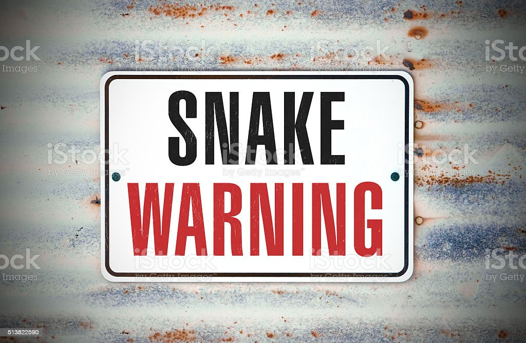 Snake Warning stock photo