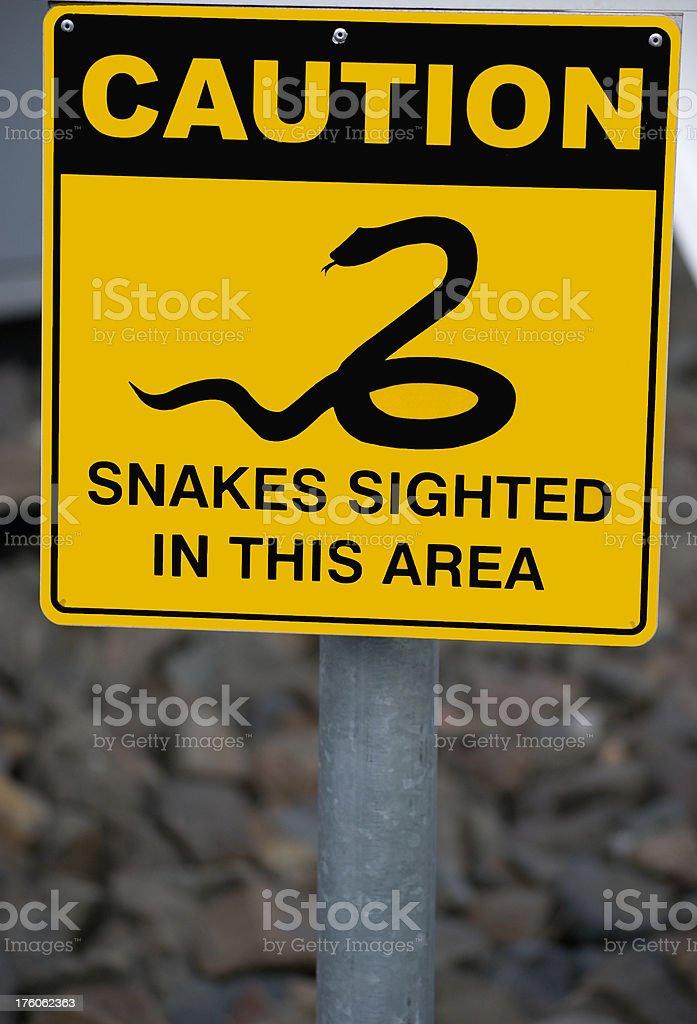 Snake warning sign royalty-free stock photo