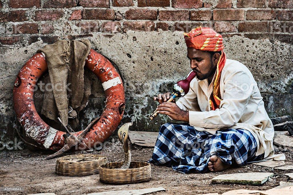 Snakecharmer stock photo