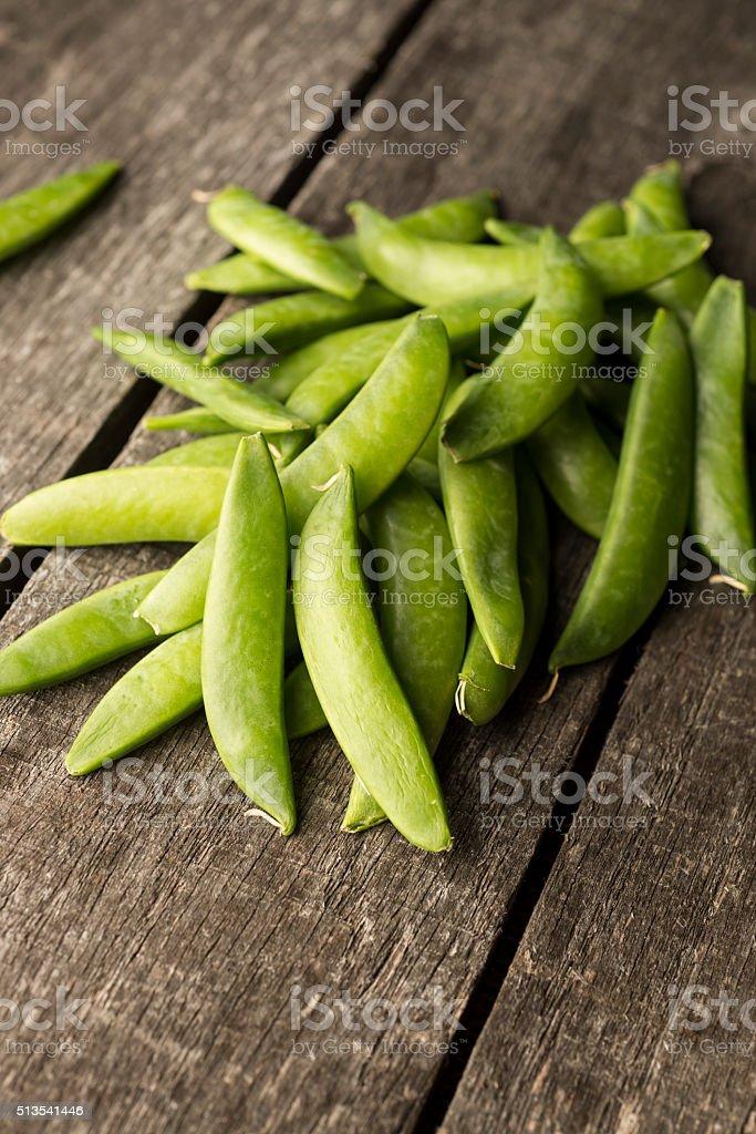 Snap Peas stock photo
