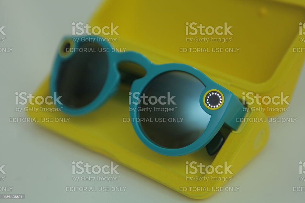 Snapchat Spectacles - Teal stock photo