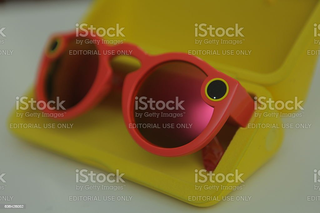 Snapchat Spectacles Coral stock photo