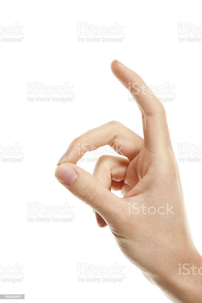 Snapping Finger royalty-free stock photo