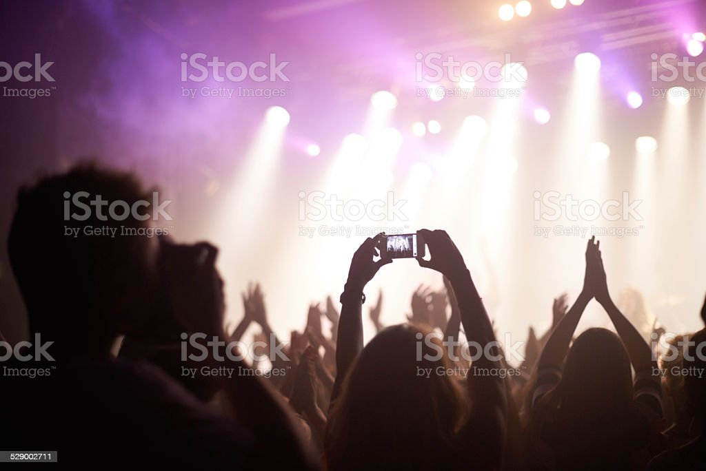 Snapping the band stock photo
