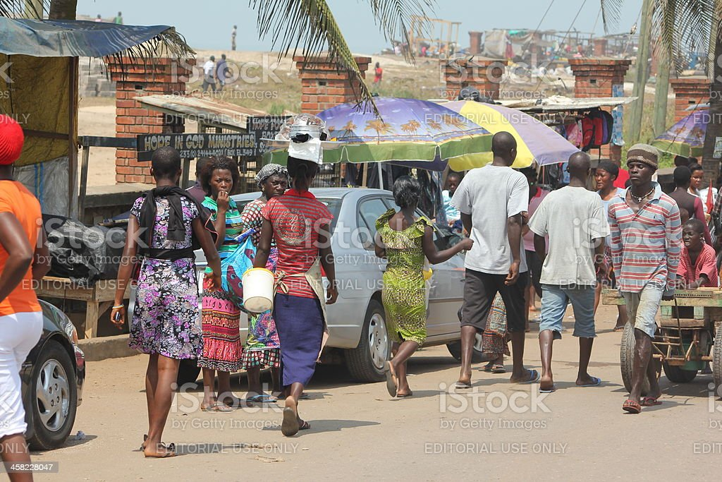 Snapshot of a Street Scene in Africa royalty-free stock photo