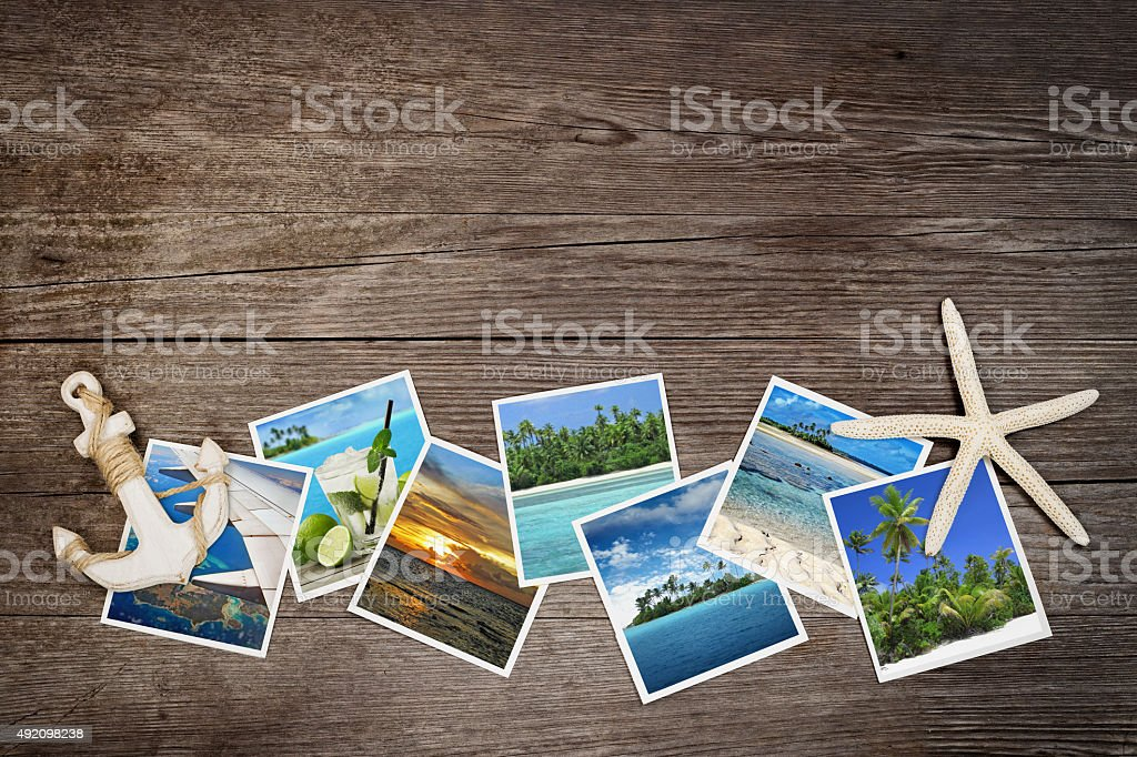 snapshots of tropical islands stock photo