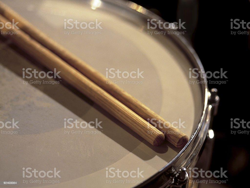 Snare drum between sets stock photo