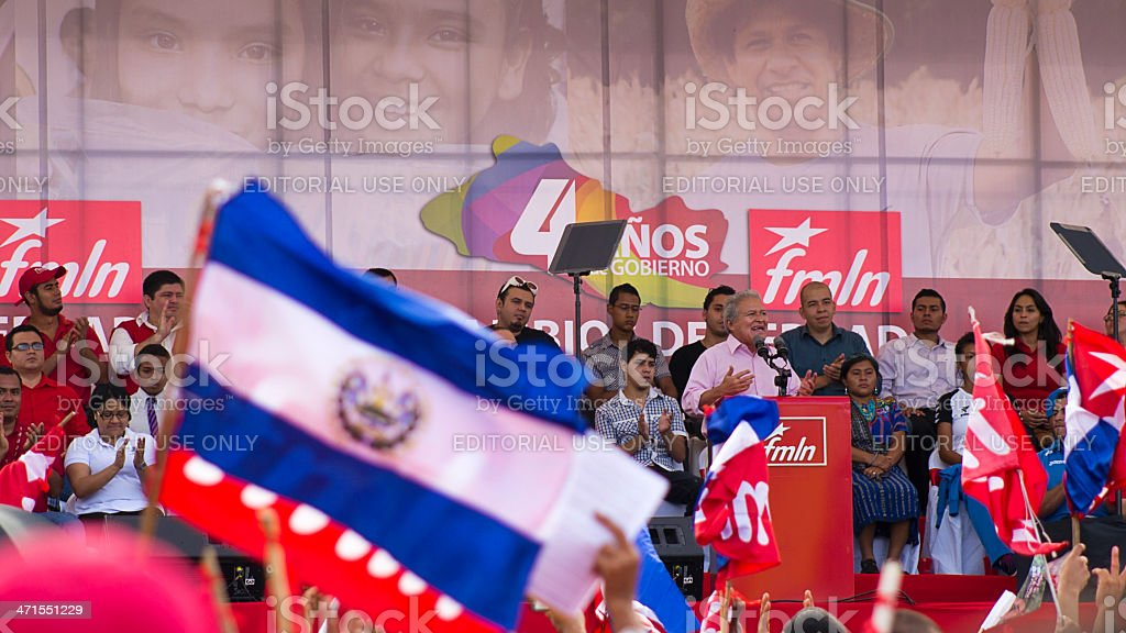 S?nchez Cer?n presidential candidate for El Salvador royalty-free stock photo