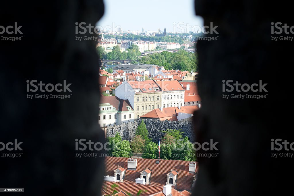 Sneak Peak of Prague stock photo